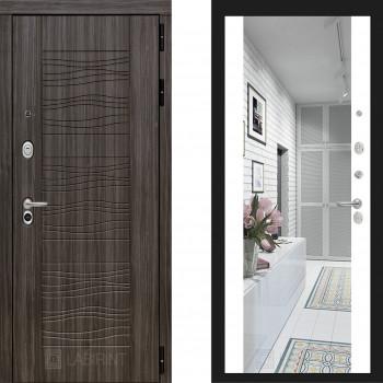 Входная металлическая дверь с зеркалом Labirint Scandi с зеркалом Макси Белый Софт