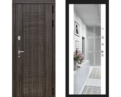 Металлическая дверь Labirint Scandi с зеркалом Макси Белый Софт