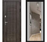 Металлическая дверь Labirint Scandi с зеркалом Макси Софт Грей