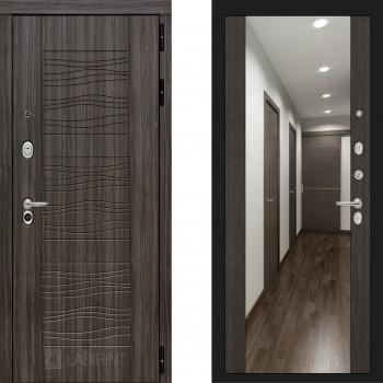 Входная металлическая дверь с зеркалом Labirint Scandi с зеркалом Макси Венге