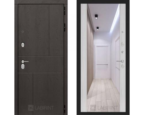 Входная металлическая дверь Labirint Urban Макси Сандал Белый зеркало