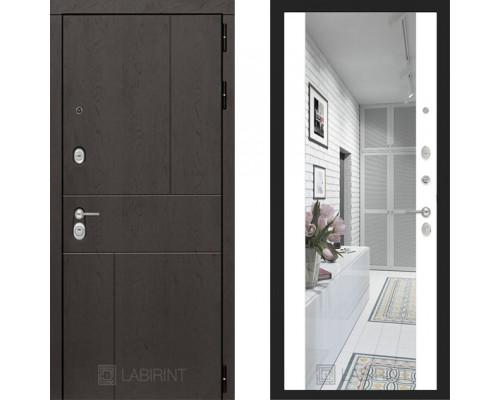 Входная металлическая дверь Labirint Urban Макси Белый софт зеркало