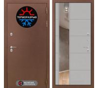 Уличная дверь с терморазрывом Labirint Термо Магнит с Зеркалом 19 Грей софт