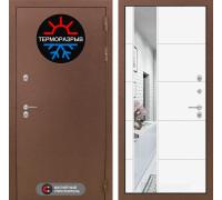 Уличная дверь с терморазрывом Labirint Термо Магнит с Зеркалом 19 Белый Софт