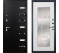 Металлическая дверь Лекс Витязь с зеркалом ясень белый ( панель №37)
