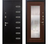 Металлическая дверь Лекс Витязь с зеркалом береза мореная ( панель №30)