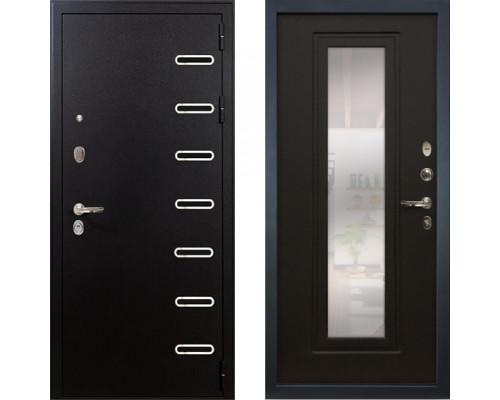 Металлическая дверь Лекс Витязь с зеркалом венге ( панель №22)