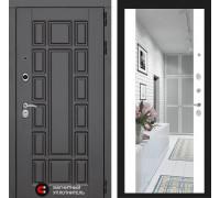Входная зеркальная дверь с зеркалом Йошкар-Ола 2N с Зеркалом Белый матовый (двери с большим зеркалом)