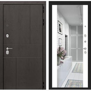 Зеркальная дверь с зеркалом Йошкар-Ола 4U с Зеркалом Белый матовый (дверь с зеркалом)