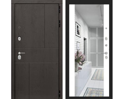 Входная дверь с зеркалом Йошкар-Ола 4U с Зеркалом Белый матовый