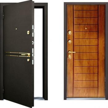 Металлическая дверь Mastino Strada Дуб Медовый