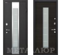 Входная металлическая дверь МеталЮр М35 ЭкоВенге со стеклом