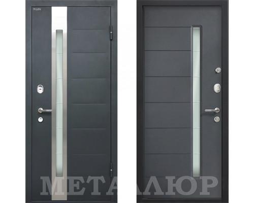 Входная металлическая дверь МеталЮр М36 Антрацит со стеклом