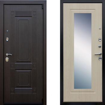 Входная металлическая дверь АСД Викинг Беленый Дуб зеркало