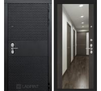 Входная дверь BLACK с зеркалом Максимум - Венге
