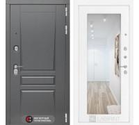 Двери Лабиринт входная дверь labirint Платинум с Зеркалом 18 (цвет Белое дерево)