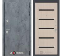 Входная дверь Бетон 01 (цвет Беленый дуб)