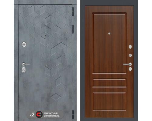 Входная дверь Бетон 03 (цвет Орех бренди)