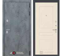 Входная дверь Бетон 03 (цвет Крем софт)