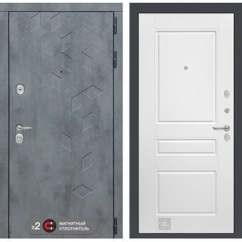 Входная дверь Бетон 03 (цвет Белый софт)