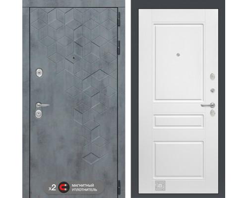 Входная квартирная дверь Labirint Бетон 03 (цвет Белый софт)