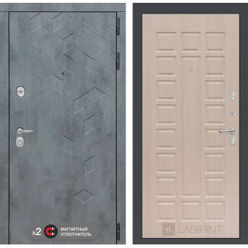 Входная дверь Бетон 04 (цвет Беленый дуб)