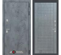 Входная дверь Бетон 09 (цвет Лен сильвер грей)