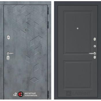 Входная дверь Бетон 11 (цвет Графит софт)