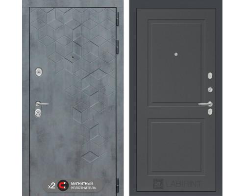 двери Лабиринт входная дверь Labirint Бетон 11 (цвет Графит софт)