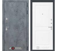 Входная дверь Бетон 11 (цвет Белый софт)