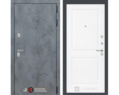 Двери Лабиринт входная дверь Labirint Бетон 11 (цвет Белый софт)