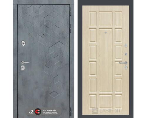 Входная дверь Бетон 12 (цвет Беленый дуб)