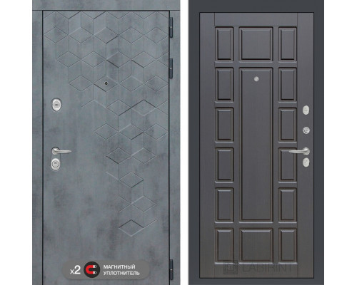 Входная дверь Бетон 12 (цвет Венге)