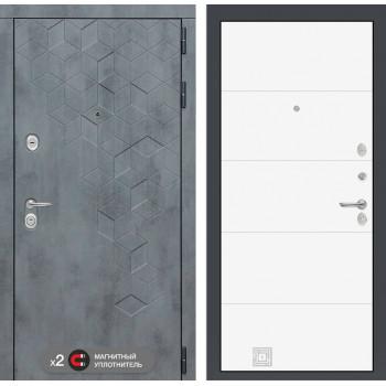 Входная дверь Бетон 13 (цвет Белый софт)