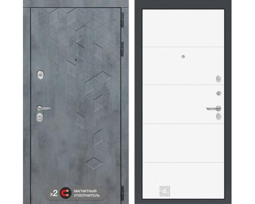 Входная дверь Labirint Бетон 13 (цвет Белый софт)