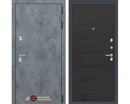 Входная дверь Бетон 14 (цвет Эковенге)