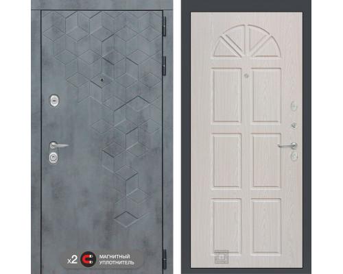 Входная дверь Бетон 15 (цвет Алмон 25)