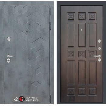 Входная дверь Бетон 16 (цвет Алмон 28)