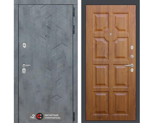 Входная дверь Бетон 17 (цвет Золотой дуб)