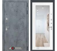 Входная дверь Labirint Бетон с зеркалом 18 (цвет Белое дерево)