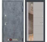 Входная дверь Labirint Бетон с зеркалом 19 (цвет Грей софт)