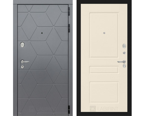 Входная дверь labirint COSMO 03 Крем софт