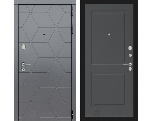 Входная дверь labirint COSMO 11 Графит софт