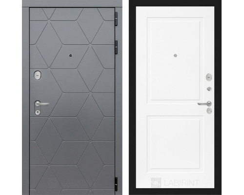 Входная дверь в квартиру labirint COSMO 11 Белый софт
