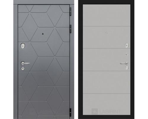 Входная дверь в квартиру labirint COSMO 13 Грей софт