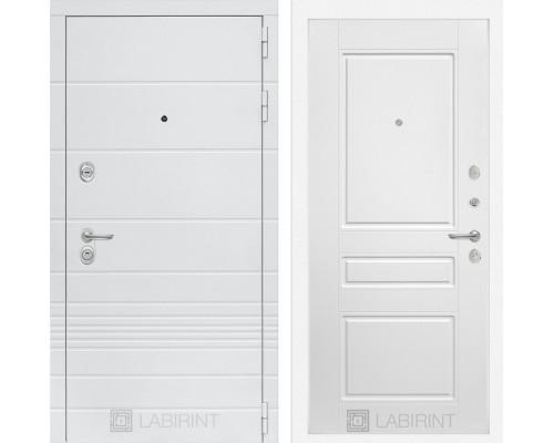 Входная дверь в квартиру Labirint Трендо 03 Белый софт