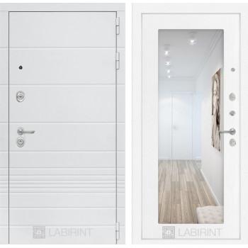 Входная дверь Labirint Трендо с Зеркалом 18 Белое дерево