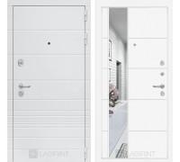 Входная дверь Labirint Трендо с Зеркалом 19 Белый софт