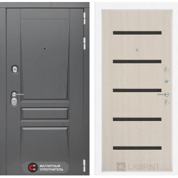 Двери Лабиринт входная дверь labirint Платинум 01 Беленый дуб