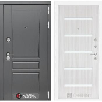 Двери Лабиринт входная дверь labirint Платинум 01 Сандал белый